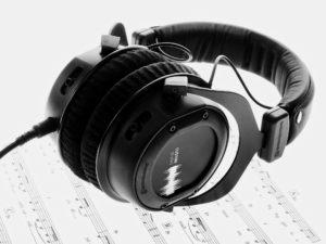 Audio Dateien abhören, Notengrafik